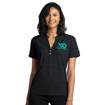 Vansport ® Women's Vantage Strata Textured Polo - Embroidery Personalization Available