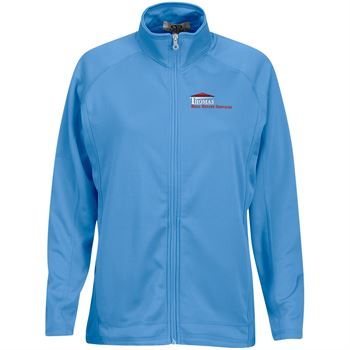 Women's Brushed Back Micro-Fleece Full-Zip Jacket - Personalization Available
