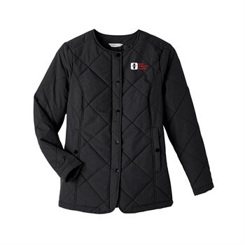 UltraClub Women's Dawson Quilted Hacking Jacket - Personalization Available