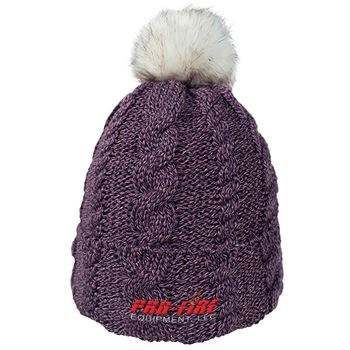 Beanie With Faux Fur Pom And Plush Lining - Personalization Available