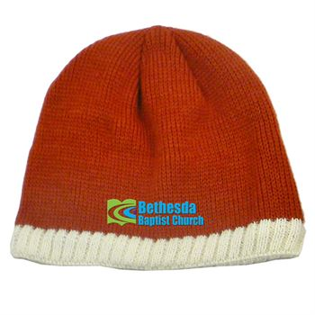 Knitted Beanie With Fleece Ear Lining - Personalization Available
