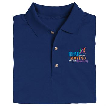 Rehab & Physical Therapy Gildan DryBlend Jersey Polo - Personalization Available