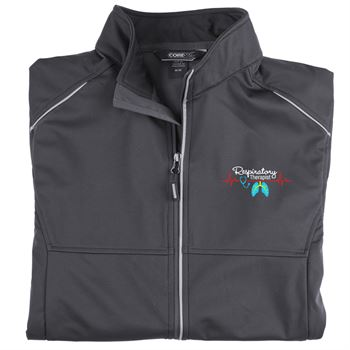 Respiratory Team Mens's Core 365® Three-Layer Knit Full-Zip Jacket - Personalization Available