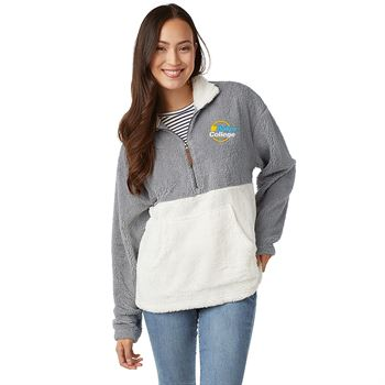 Charles River Apparel Unisex Oxford Quarter Zip -Embroidered Personalization Available