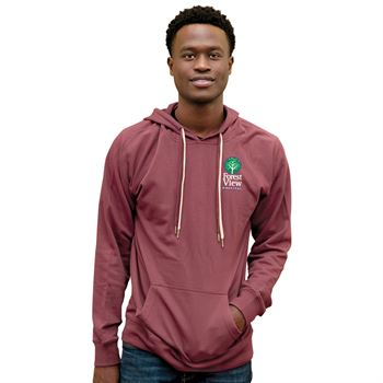 Independent Trading Co® Unisex Lightweight Loopback Terry Hoodie - Embroidered Personalization Available