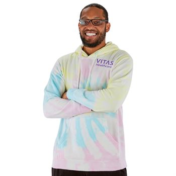 Independent Trading Co® Unisex Midweight Tie-Dye Hooded Pullover - Embroidered Personalization Available