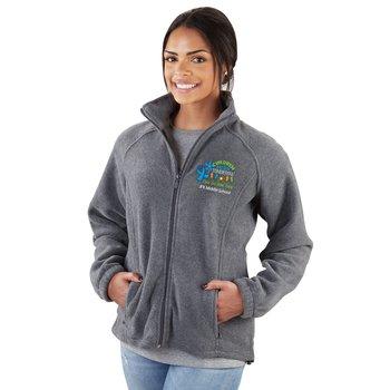 Harriton® Women's Fleece Full-Zip Jacket - Personalization Available