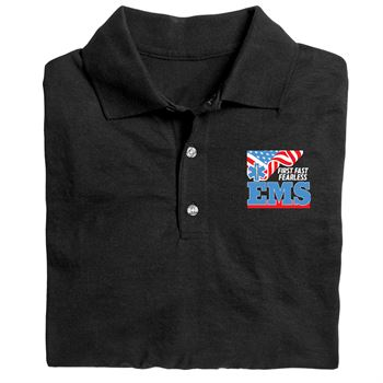 EMS: First. Fast. Fearless. Personalized Gildan� DryBlend Jersey Polo�w/ Optional Personalization - Embroidery
