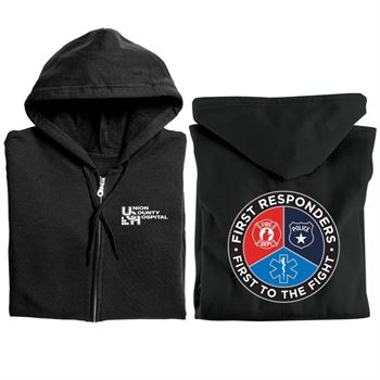 First Responders, First To The Fight Gildan� Heavy Blend� Full-Zip Hooded Sweatshirt With Optional Personalization