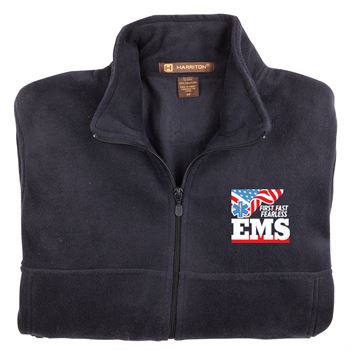 EMS: First. Fast. Fearless Harriton ® Fleece Full-Zip Jacket�w/ Optional Personalization - Embroidery