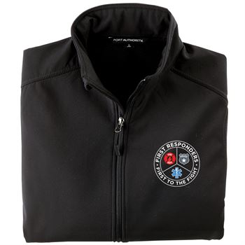First Responders, First To The Fight Port Authority Core Soft Shell Jacket With Optional Personalization - Embroidery