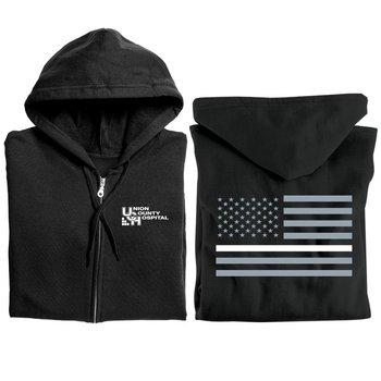 The Thin White Line Gildan� Heavy Blend� Full-Zip Hooded Sweatshirt With Optional Personalization