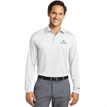 Nike Long Sleeve Men's Dri-FIT Stretch Tech Moisture Wicking Polo - Embroidered Personalization Available