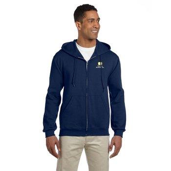 Jerzees Adult 9.5 oz., Super Sweats ® NuBlend ® Fleece Full-Zip Hooded Sweatshirt