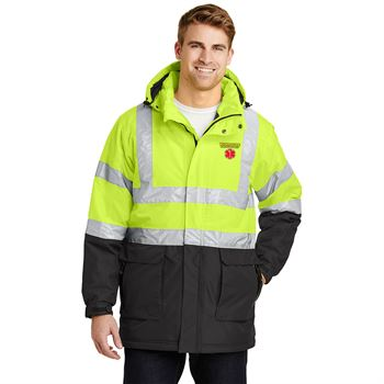 Port Authority® ANSI 107 Class 3 Safety Unisex Heavyweight Parka Jacket- Embroidery Personalization Available