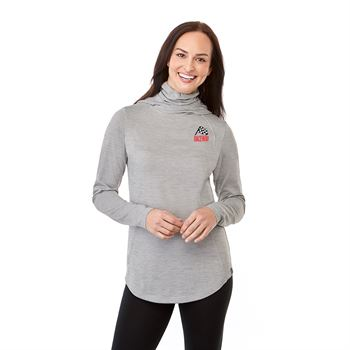 Aiden Women's Eco Knit Hoody With Built In Neck Gaiter- Embroidery Personalization Available