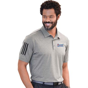 Adidas® Men's Elevated Stripes Sport Shirt Polo- Embroidery Personalization Available