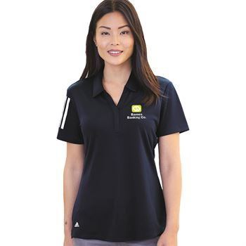 Adidas® Women's Elevated Stripes Sport Shirt Polo- Embroidery Personalization Available