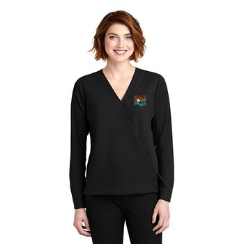 Fashion + Function Collection Women's Wrap Blouse - Embroidery Personalization Available