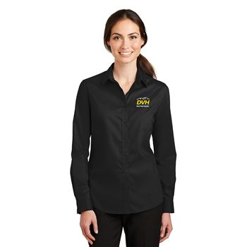 Oxford Women's Uniform Essential Pro Long Sleeve Button Down - Embroidery Personalization Available
