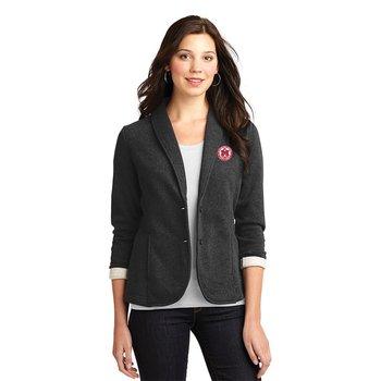 Fashion + Function Collection Women's Luxe Fleece Blazer