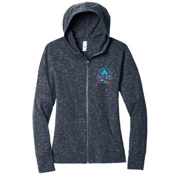 District® Women's Medal Full-Zip Lightweight Hoodie Sweatshirt