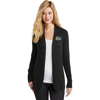 Port Authority® Women's Open Front Flowy Cardigan Sweater - Embroidered Personalization Available
