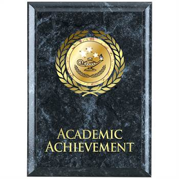 Academic Achievement Black Marble Award Plaque