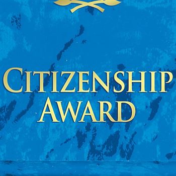 Citizenship Award Blue Marble Award Plaque