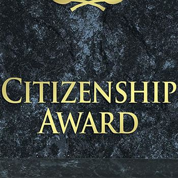 Citizenship Award Black Marble Award Plaque