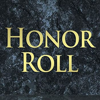 Honor Roll Black Marble Award Plaque