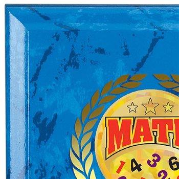 Math Award Blue Marble Award Plaque