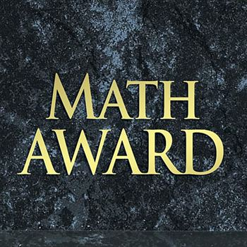 Math Award Black Marble Award Plaque