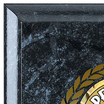 Perfect Attendance Black Marble Award Plaque