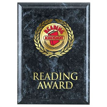 Reading Award Black Marble Award Plaque