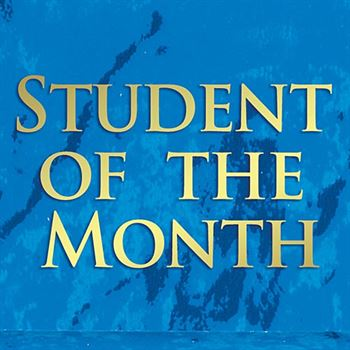 Student Of The Month Blue Marble Award Plaque