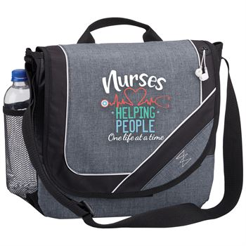 Nurses: Helping People One Lift At A Time Portland Messenger/Briefcase Bag