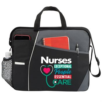 Nurses: Exceptional People, Essential Care Concord Briefcase Bag