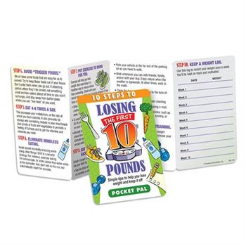 10 Steps To Losing The First 10 Pounds Pocket Pal - Personalization Available
