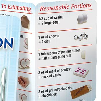 Be Wise About Portion Size Pocket Pal (Personalized)