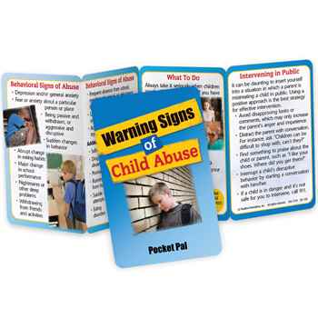 Warning Signs Of Child Abuse Pocket Pal - Personalization Available