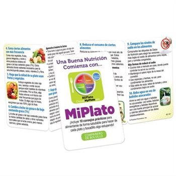 Good Nutrition Starts With MyPlate Pocket Pal (Spanish) - Personalization Available