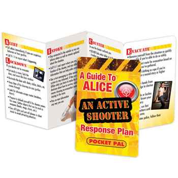A Guide To ALICE: An Active Shooter Response Plan Pocket Pal - Personalization Available
