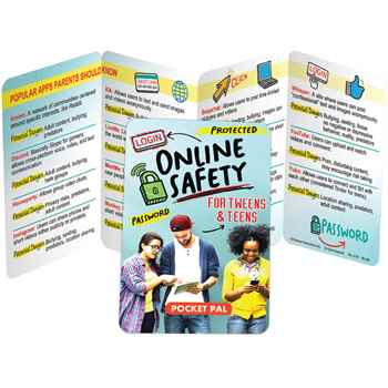 Online Safety For Tweens & Teens Pocket Pal - Personalization Available