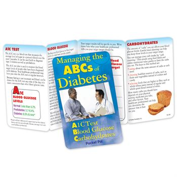 Managing The ABCs Of Diabetes Pocket Pal - Personalization Available