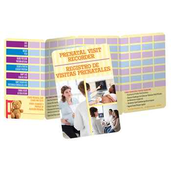 Prenatal Visit Recorder English/Spanish Pocket Pal - Personalization Available