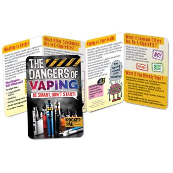 The Dangers Of Vaping: Be Smart, Don't Start! Pocket Pal - Personalization Available