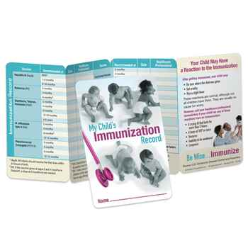 My Child's Immunization Record Pocket Pal - Personalization Available