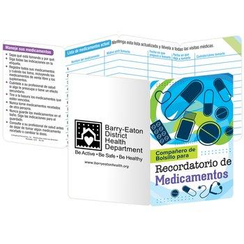 Medication Recorder Pocket Pal Spanish Language - Personalization Available