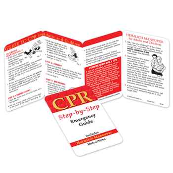 CPR: Step-By-Step Emergency Guide Pocket Pal - Personalization Available